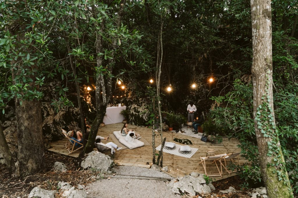 The concert- and chill-out-area of Dreamsea Cantabria, Spain